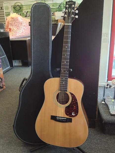 Epiphone Pr 350s 1980s Acoustic Guitar W Case Reverb