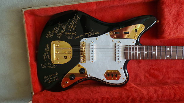 Awesome Fender Jaguar Guitar Center 30th Anniversary Black/Gold   Gift From Fender  To Marty Stuart
