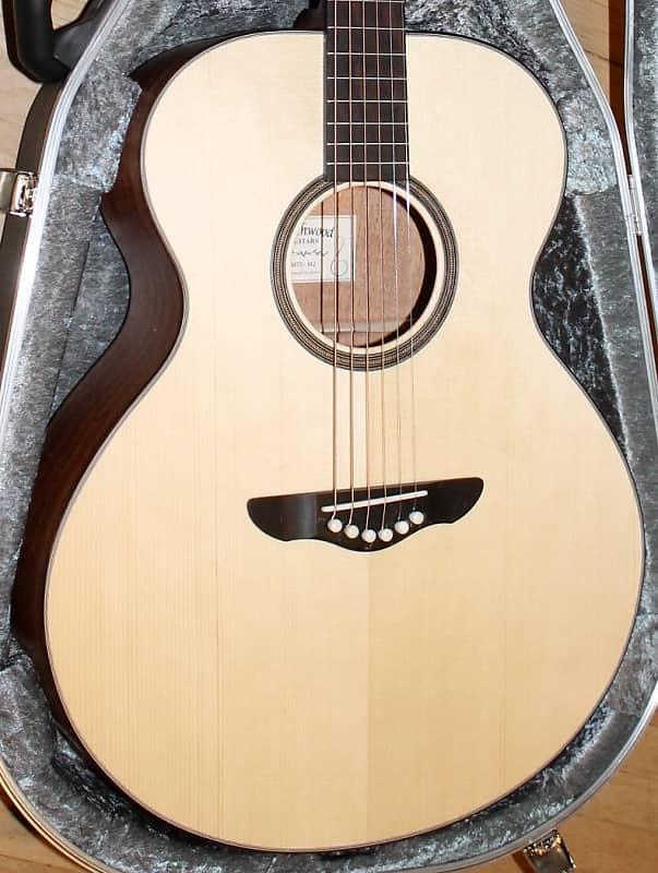2016 Northwood MJ70 Mini-Jumbo Acoustic guitar with Mahogany back/sides Satin luster natural finish image