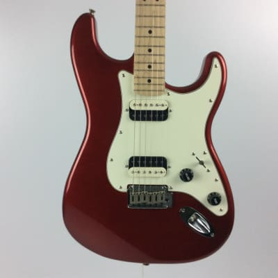 Used Squier CONTEMP HH STRATOCASTER Electric Guitar Red