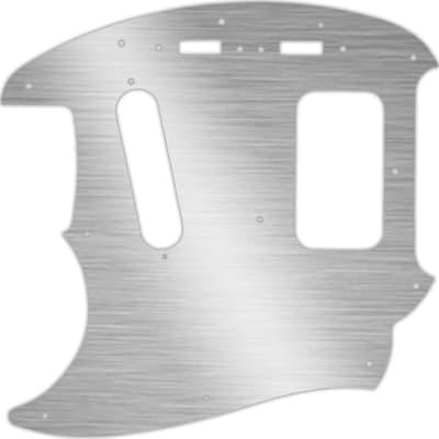 WD Custom Pickguard For Left Hand Fender Kurt Cobain Mustang #13 Simulated Brushed Silver/Black PVC