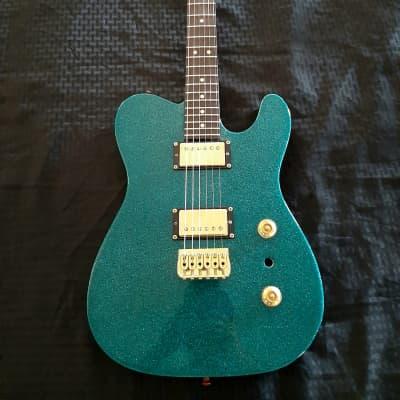 6 Star Custom Guitars Vega  Marine Teal Flake/black for sale