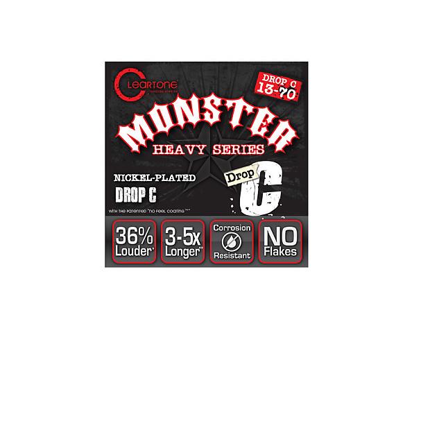 Cleartone Monster Heavy Series Nickel Plated Drop C Electric Guitar Strings