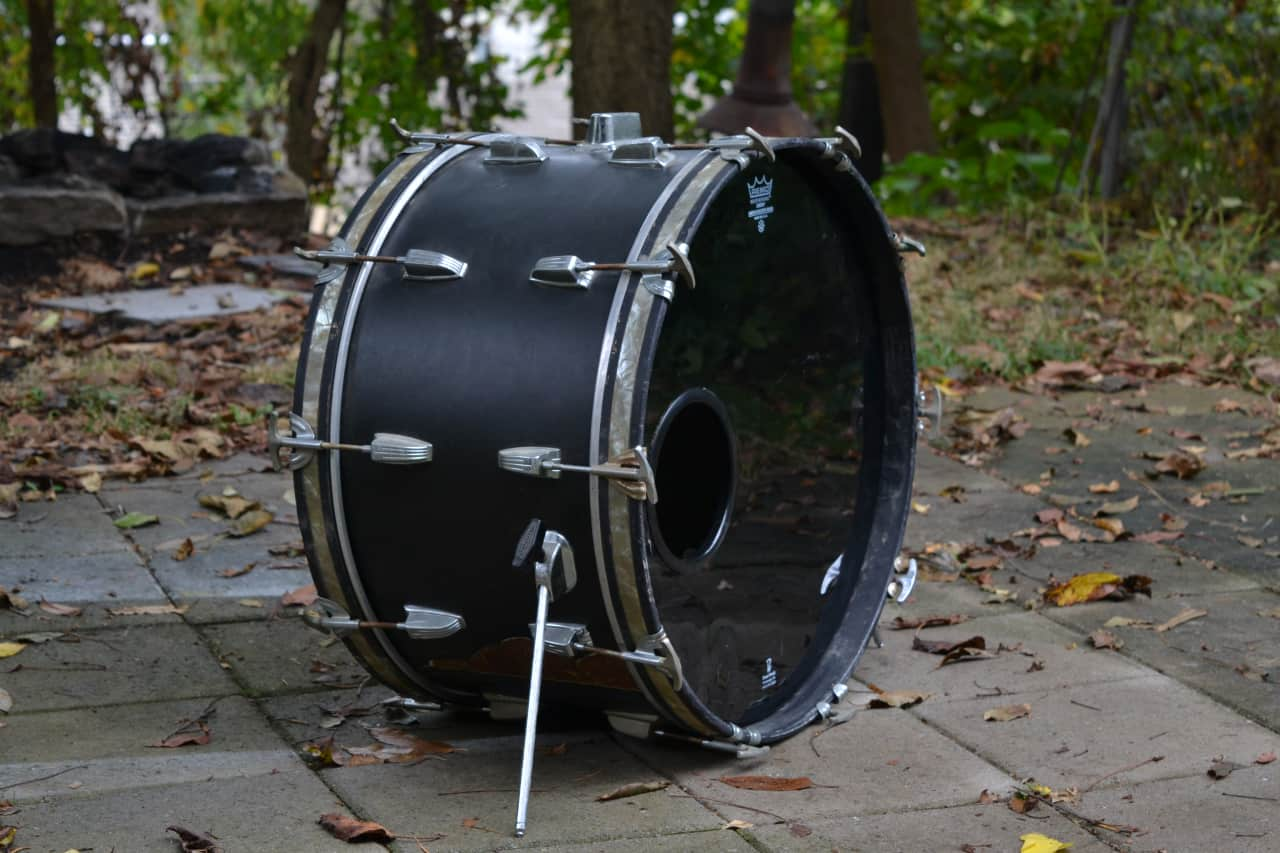 ludwig 22x12 new yorker 1960s bass drum reverb. Black Bedroom Furniture Sets. Home Design Ideas