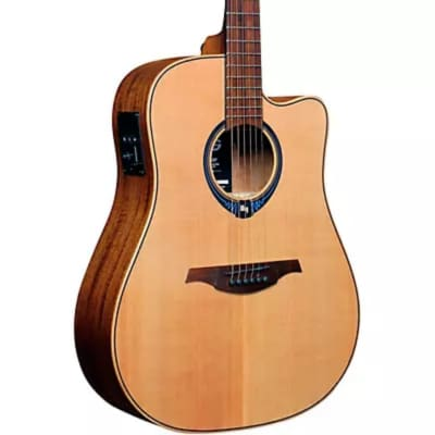 Lag Lag Tramontane Hyvibe THV10DCE acoustic/electric SMART guitar 2021 Natural for sale