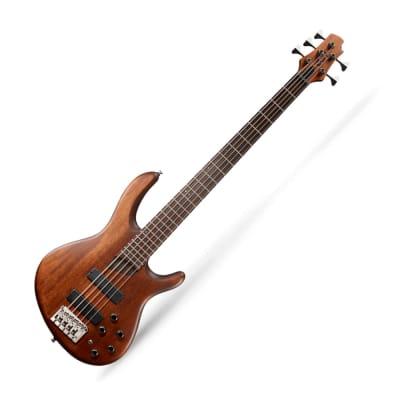 Cort B5 Plus MH OPM 5-String Bass Open Pore BARTOLINI MK-1 EQ and Pickups Mahogany