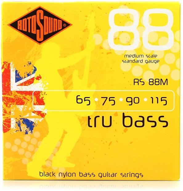 rotosound rs88m tru bass 88 black nylon tapewound medium reverb. Black Bedroom Furniture Sets. Home Design Ideas
