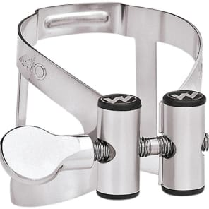 Vandoren LC61SP M/O Series Silver-Plated Bb Clarinet Ligature and Plastic Cap for Masters Mouthpiece