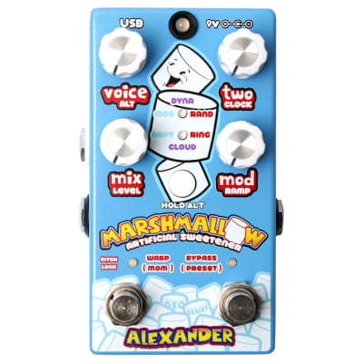 Alexander Pedals Marshmallow Pitch Shifter Guitar Effects Pedal