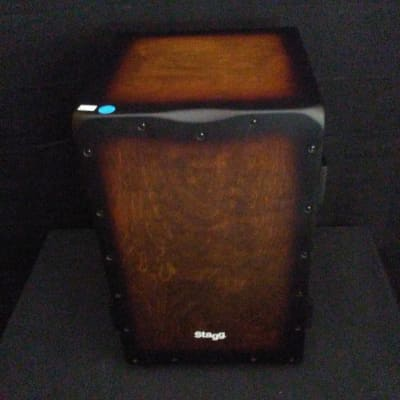 Stagg Crate Cajon Drum With Case Sunburst Red CAJ-CRATE SBR SALE!
