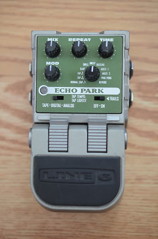 line 6 echo park stereo delay gray green ds effects reverb. Black Bedroom Furniture Sets. Home Design Ideas