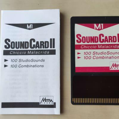 "Korg M1 ROM-Card Metrasound II ""Chicco Malacrida"" ca. 1989 very rare . For Korg Workstations"