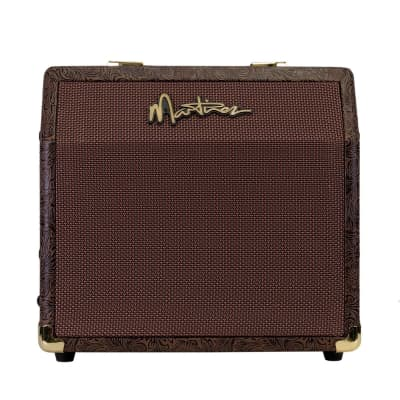 Martinez Retro-Style 15 Watt Acoustic Guitar Amplifier with Chorus (Paisley Brown) for sale