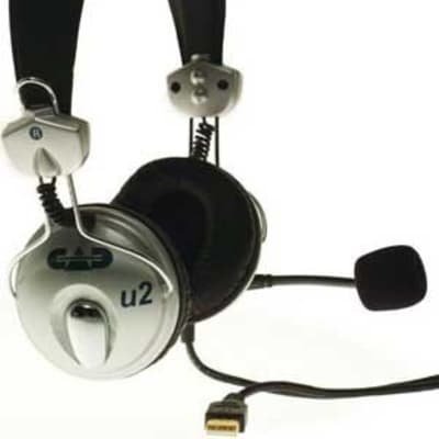 CAD Audio U2-CAD-B2 USB Stereo Headphones With Microphone (B2-Stock)