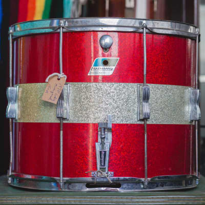 Ludwig 1971 Marcher in Red & Silver Tri-Band - 12x15