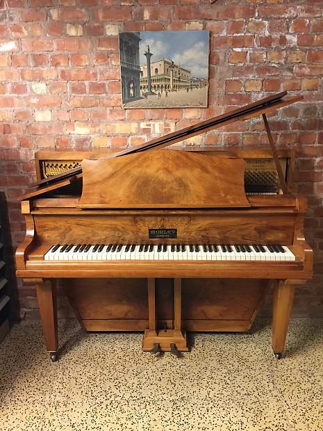 Morley upright grand piano unique art case in walnut reverb for Grandi case a un piano