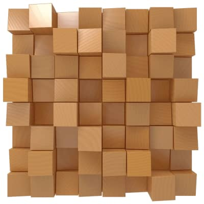 Vicoustic Multifuser Wood 64 MKII | Two-dimensional Diffuser | Box of 1 (Natural Wood)