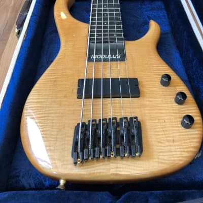 Modulus Quantum Q 6 Sweetspot Bass Guitar 1993 Flame Maple for sale