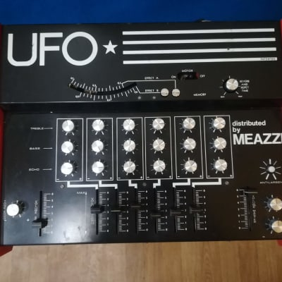 UFO distributed by Meazzi 70s tape echo mixer amplifer powered Rarest reverb delay space for sale