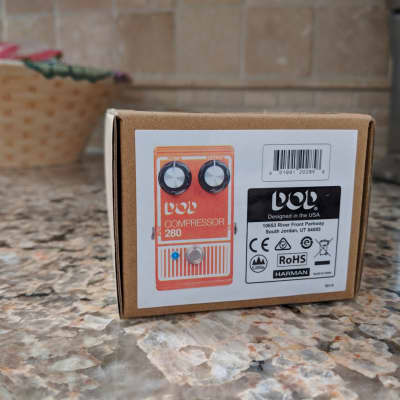 DOD 280 Compressor Reissue Comp Pedal New Sealed In Box For Electric Guitar Bass