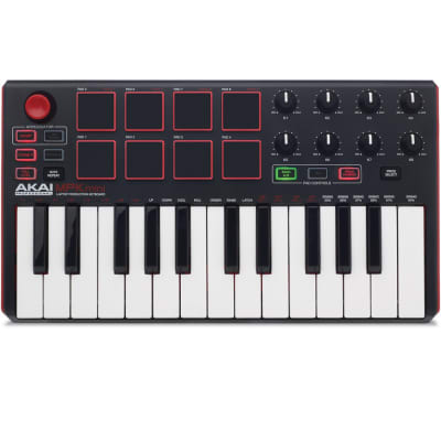Akai MPK Mini MKii 25-Key Compact Keyboard & Pad Controller + MPC Essentials