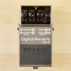 Boss RV-5 Digital Reverb Pedal - Stereo Emulator Has Spring, Plate, & Hall Reverb + More - VG W/ Box
