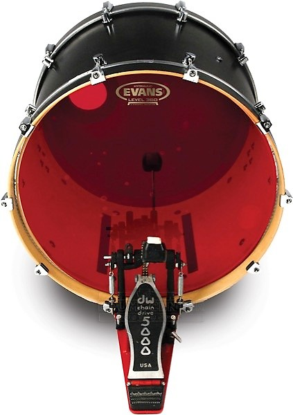 evans hydraulic red drum heads 22 bass drum head reverb. Black Bedroom Furniture Sets. Home Design Ideas