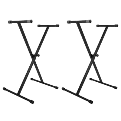 On Stage Stands KS7190 Single-X Keyboard Stand 2 Pack Bundle