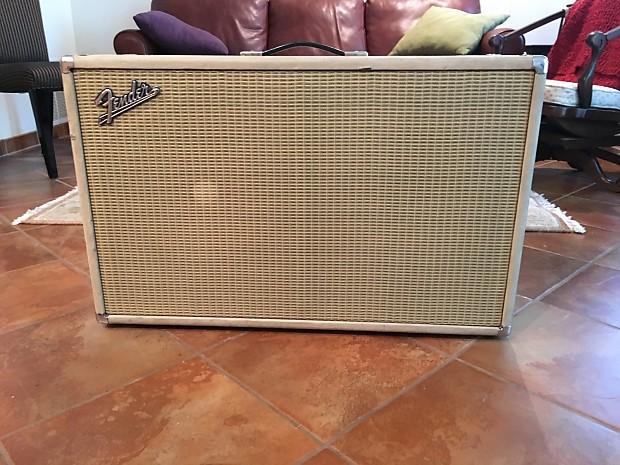Vintage Fender Blonde Bassman 2x12 Cabinet 1960s | Reverb