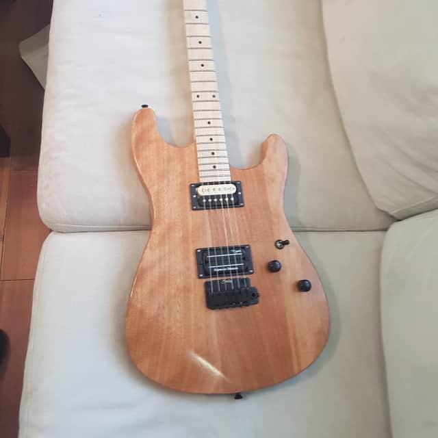Custom made Banana Neck Guitar SD Dimebucker&59 image