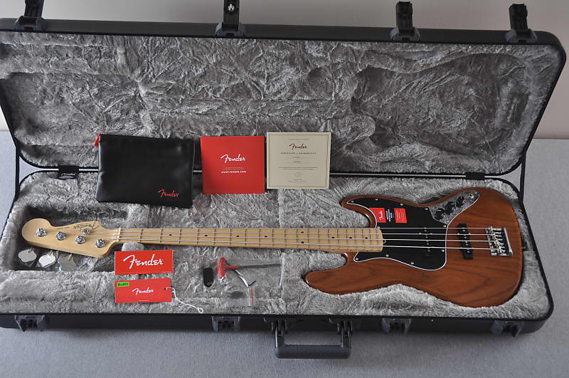 Fender Jazz Bass American Pro - Roasted Ash - Limited Edition - Maple Fingerboard - Natural - USA image