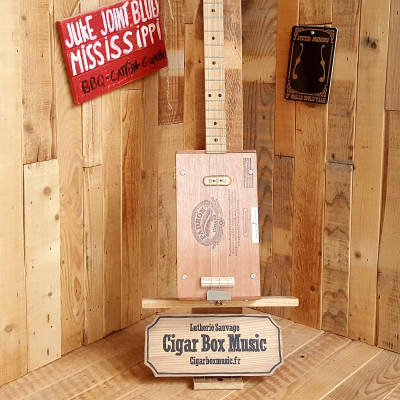 Cigar Box  Music Cigar Box Guitar Electrique #94 for sale