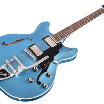 Guild Starfire I DC Pelham Blue with Guild vibrato tailpiece Semi-Hollow Electric for sale