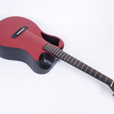 Journey OF660-RM Matte Red Carbon Fiber Travel Guitar W/ Electronics TSA Compliant @ LA Guitar Sales