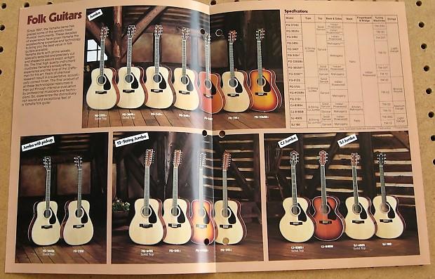 yamaha acoustic guitar catalogs 70s reverb. Black Bedroom Furniture Sets. Home Design Ideas