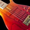 2019 F Bass BN5 5 String Bass with Maple Board & Blackwood Block Inlays ~ Auburn Fade Gloss