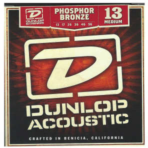 Dunlop DAP1356 Phosphor Bronze Acoustic Guitar Strings - Medium (13-56)