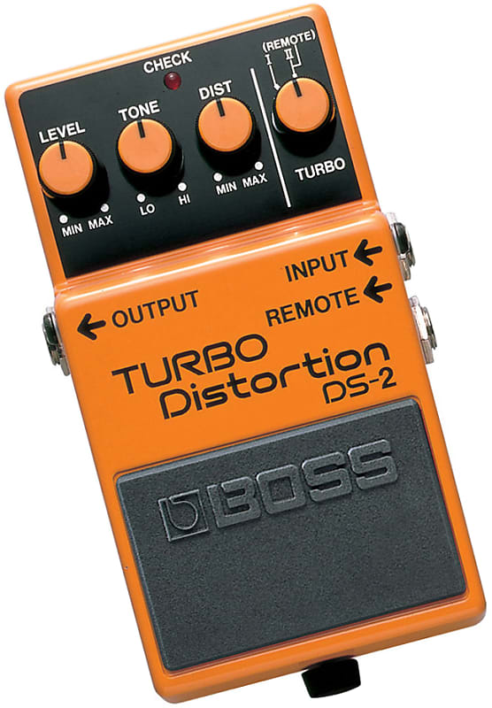 boss ds 2 turbo distortion guitar pedal w remote turbo reverb. Black Bedroom Furniture Sets. Home Design Ideas