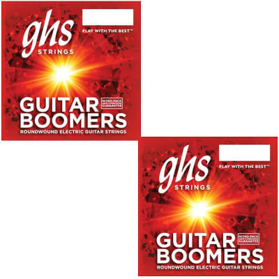 GHS Boomers Guitar Strings 2-Pack Roundwound Electric Extra Light 09-42