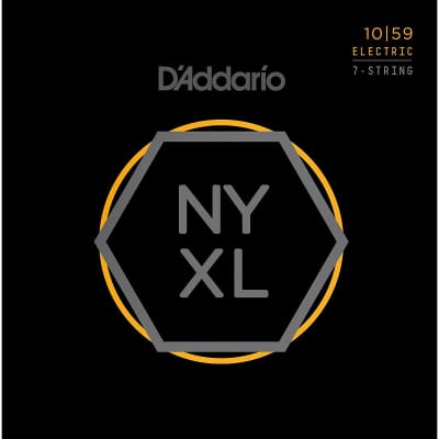 D'Addario NYXL1059 7-String Electric Guitar Strings 10-59