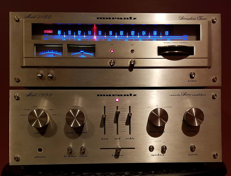 Marantz 1090 Console Stereo Amplifier and 2100 Tuner