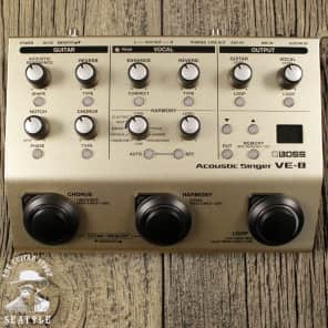 Boss VE-8 Acoustic Singer Pre-amp and Effects For Acoustic Guitar