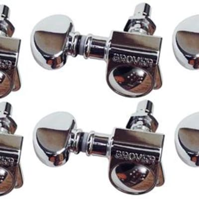 Grover 406C Mini Locking Rotomatic Tuners 3x3 Chrome