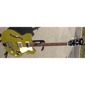 NEW HOFNER CONTEMPORARY VERYTHIN GUITAR - BIGSBY TREMOLO - GLOSS OLIVE GREEN for sale