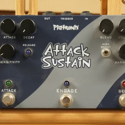 Pigtronix Attack Sustain Slow Gear Envelope Amplitude Synth Guitar Pedal