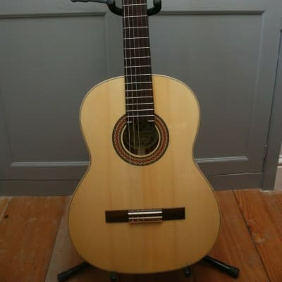 Hora SM10 Cristal solid spruce top solid mahogany back & sides classical guitar with Sigma hard case for sale