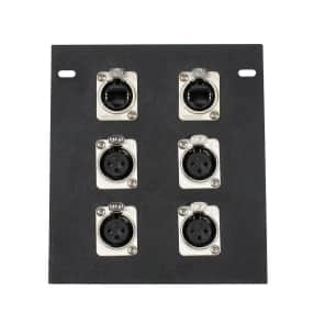 Elite Core Audio FB6-2NE8FD Recessed Floor Box with Quad XLR Female and Dual EtherCon Connectors