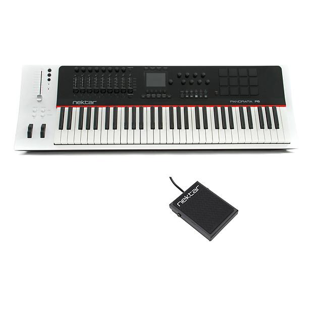 Nektar Panorama P6 61-key MIDI Controller Keyboard With Nektar NP-1 Foot  Switch