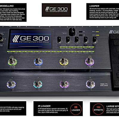 Mooer GE-300 Guitar Multi-Effects Processor with synth engine  PRE ORDER Ships 6-19-19