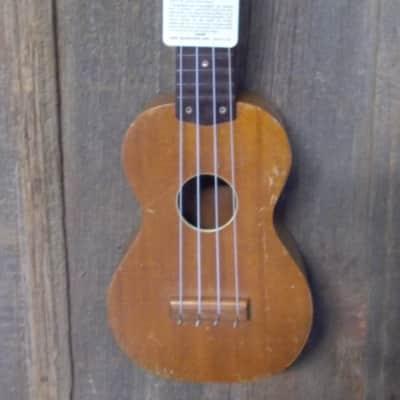 Harmony Roy Smeck Soprano Uke 1950s natural Mahogany for sale